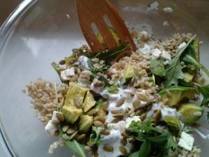Barley Avocado Arugula Salad